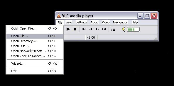 how to open a file on media player