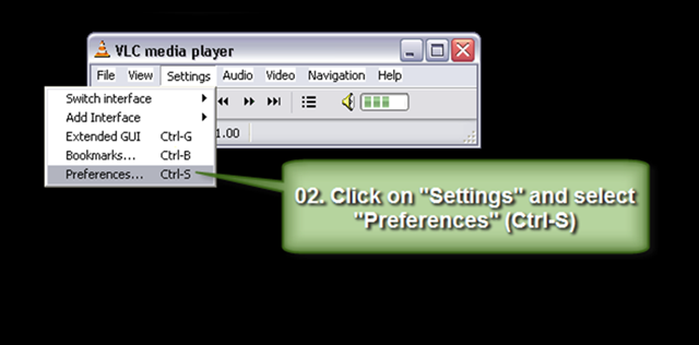 02_stop the video and  click on settings and select preferences