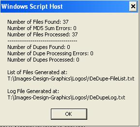 DeDupeScript-Results
